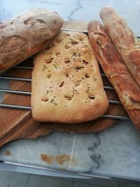 Sourdough Baguette And Foccacia With Yeast