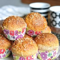 Sunflower Anise Sourdough Muffins