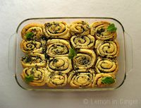Eggless Herb Pull-Apart Rolls