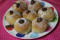 Mini Baked Doughnuts (with Jam Or Nutella)