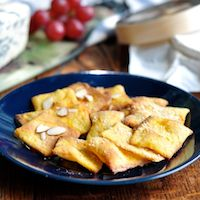 Saffron Almond Sourdough Crackers