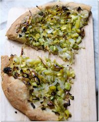 Homemade Pizza With Onions And Zucchini