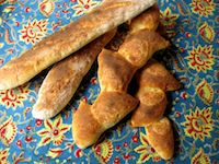 White Baguettes And Epi