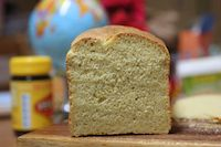 Vegan Sourdough Polenta Cheese Bread