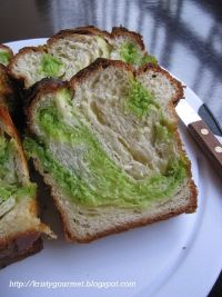 Pandan Coconut Mable Danish Loaf