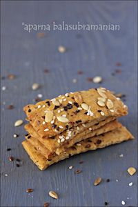 Crunchy Savoury Seed Crackers
