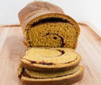 Cinnamon Swirl Yeasted Pumpkin Wheat Bread