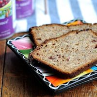 Double Almond Cranberry Spelt Loaf