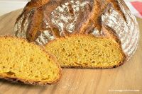 Bread With Carrot Juice And Grated Carrots
