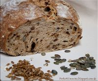 Sourdough Bread With Caramelized Leaks And Seeds