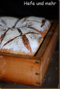 Wheat Rye Bread Baked In A Frame