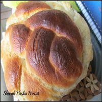 Egg Less Slovak Paska Bread