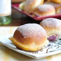 Lemon Curd Filled Sugar Rolls