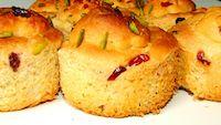 Whole Wheat Cranberry Pistachio Mini Panettones