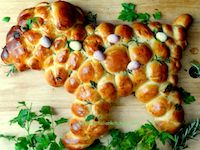 Soft Easter Bread With Herbs
