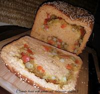 Tomato Bread Kneaded And Baked In Bread Machine