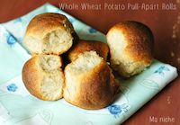 Irish Whole Wheat Potato Pull-apart Rolls