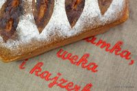 Tomato Bread With Black Sesame Seeds