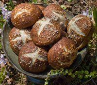 Potato Sourdough Pretzel Rolls