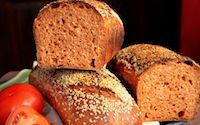 Spelt Tomato Bread With Sesame And Herbs