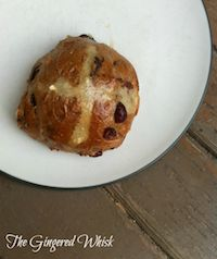 Spiced Ale Sourdough Hot Cross Buns