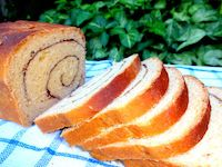 Whole Wheat Orange Cinnamon Swirl Bread