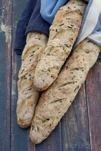Wild Rice And Onion Baguettes