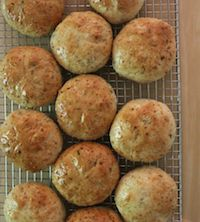 Quinoa, Onion & Rosemary Rolls