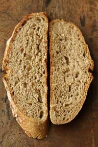 White, Whole Rye, And Whole Wheat Sourdough
