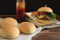 Eggless Hamburger Buns