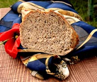 Spelt Rye Bread With Poppy Seeds And Flaxseeds