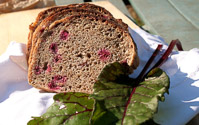 Sourdough Beet Leaves And Dill Bread