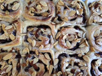 Sweet Cherry Rolls With Toasted Almonds