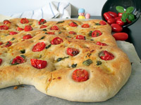 Cherry Tomato And Basil Focaccia