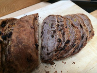 Star-studded Raisin Pecan Bread