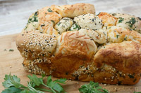 Pull-Apart Bread W/ Cheese, Herbs, & Seeds