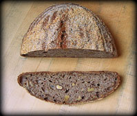 Whole Wheat Sourdough With Walnuts