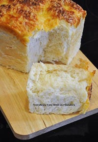 Tangzhong Ham & Cheese Loaf
