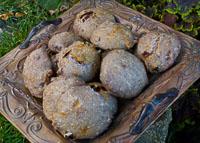 Cherry Walnut Porridge Rolls