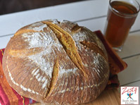 Pumpkin Whey Whole Wheat Bread