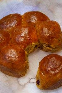 Cranberry-pumpkin Sourdough Rolls