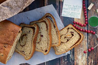 Spice-Swirled Cranberry Sweet Potato Bread