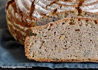 Bread With Ricotta And Grains