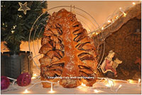 Braided Nutella Christmas Tree Bread