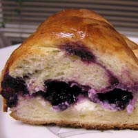 Blueberry cream cheese braid