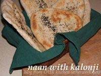 naan with kalonji (nigella seeds)