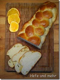 Challah flavoured with Orange liquor