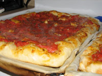 Slab pizza