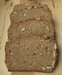 100 % Rye Sourdough with Whole Grains