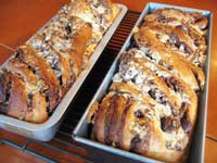 Chocolate-Halva Babka Cake